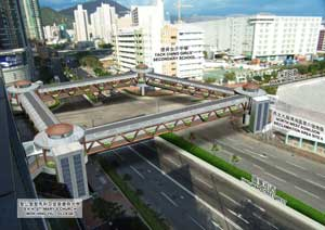A proposed pedestrian bridge in Sham Shui Po
