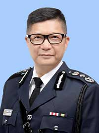 Passport portrait of HK police commissioner Chris Tang Ping Keung, wearing uniform