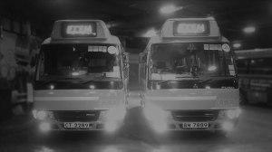 A pair of Hong Kong minibuses