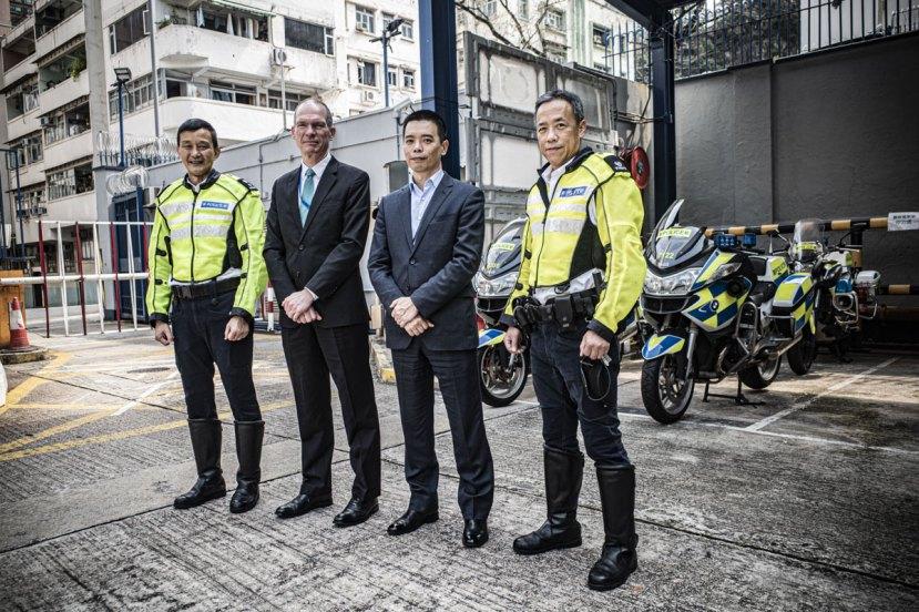 Hong Kong Traffic police at the regional headquarters in Shau Kei Wan
