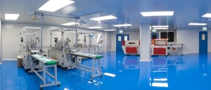 A cleanroom facility for making masks